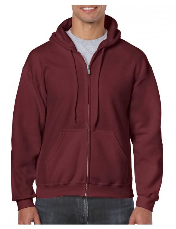 comprare popolare 0ad09 a7ea5 Felpa cappuccio zip lunga Gildan Heavy Blend